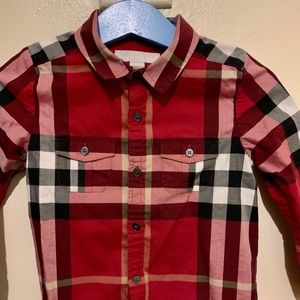 Burberry Baby Boys' Check Long-Sleeve Shirt 18m